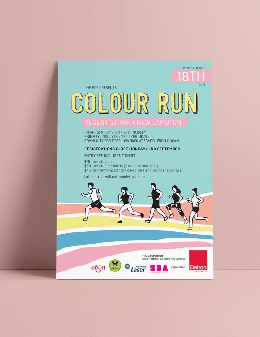 Poster for New Lambton Colour Run