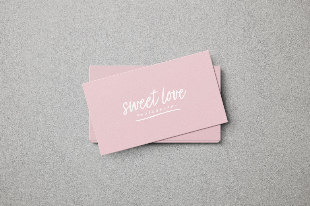sweet love photography business card