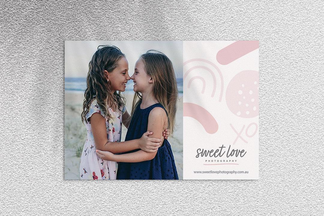 sweet love photography flyer design
