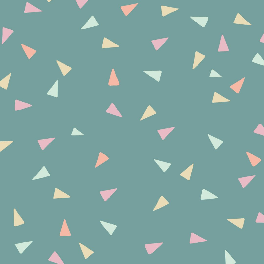 Link to Instagram - Triangle Patterns - bright paste triangles on dark jade coloured background