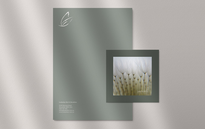 Letterhead and Postcard for Leeholme B&B