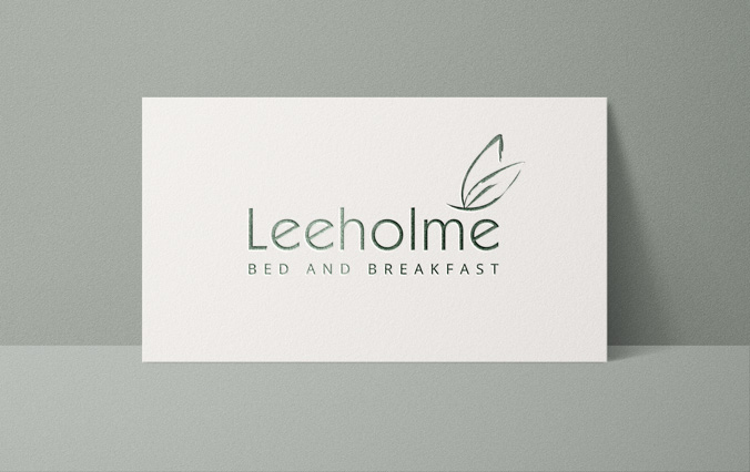 Business card with Leeholme B&B logo design